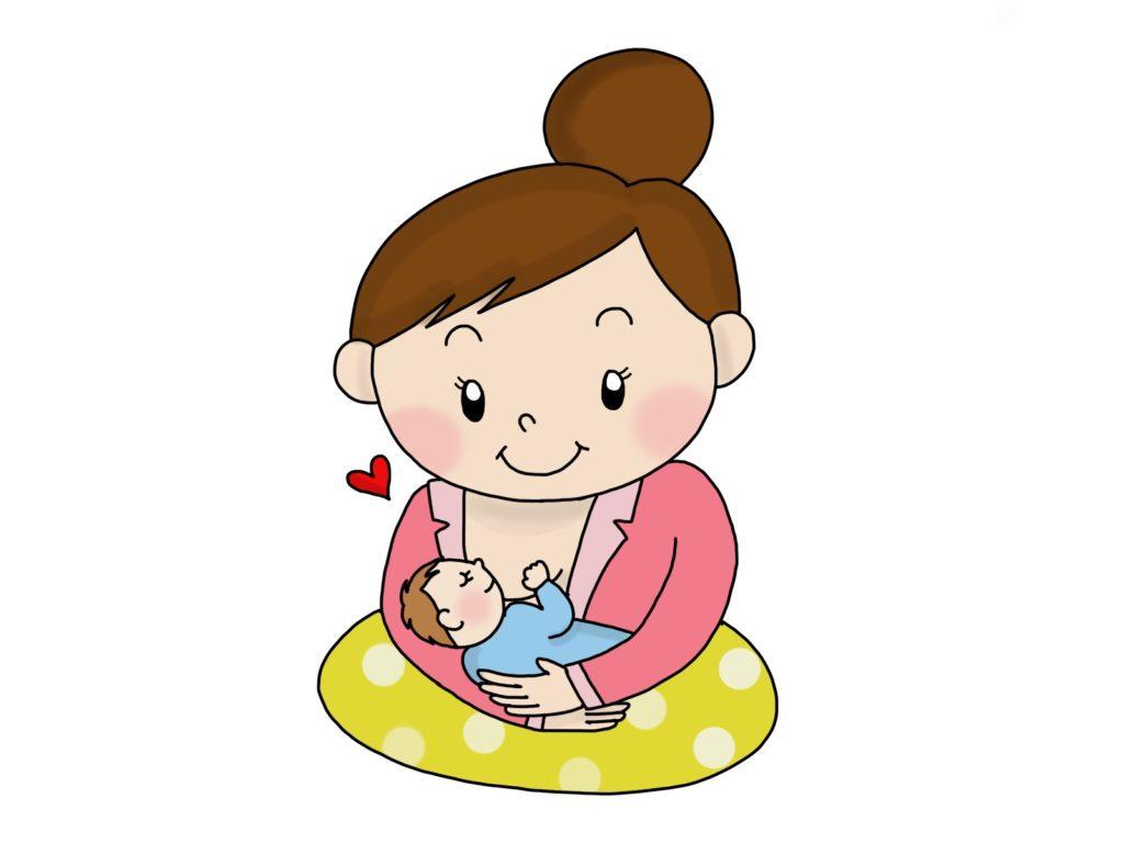 授乳しているママ
