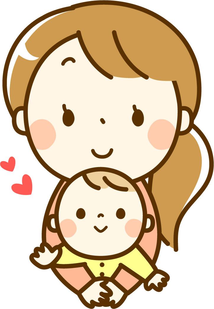 子供を抱っこするママ