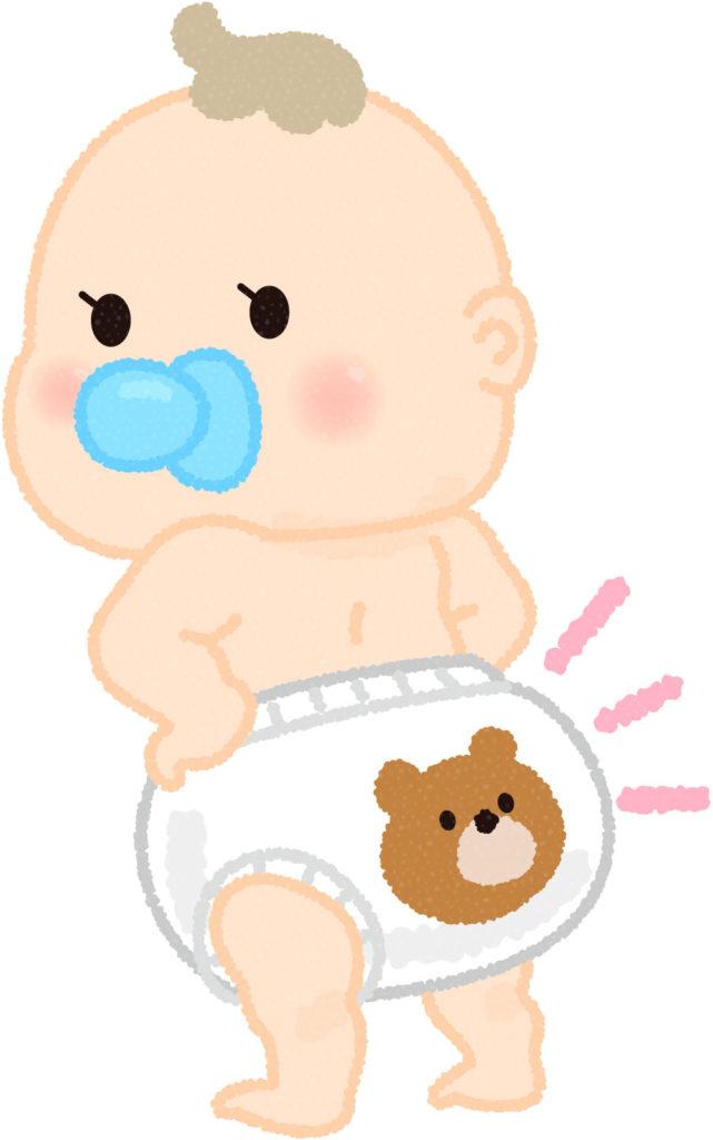 オムツを穿いてる赤ちゃん