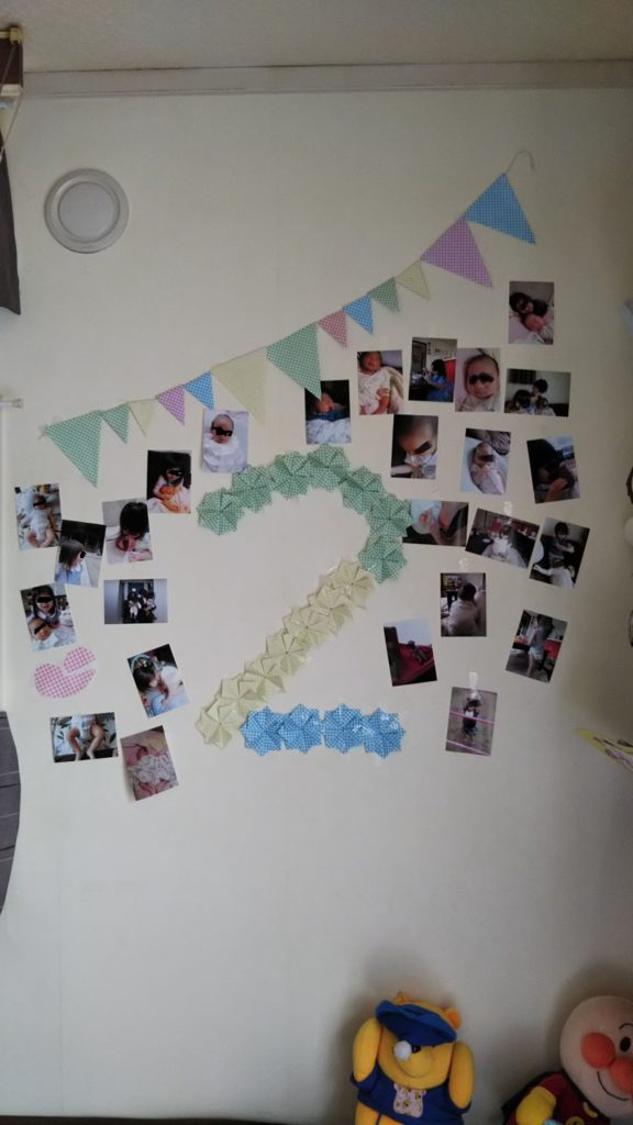 2歳の誕生日の飾りつけ
