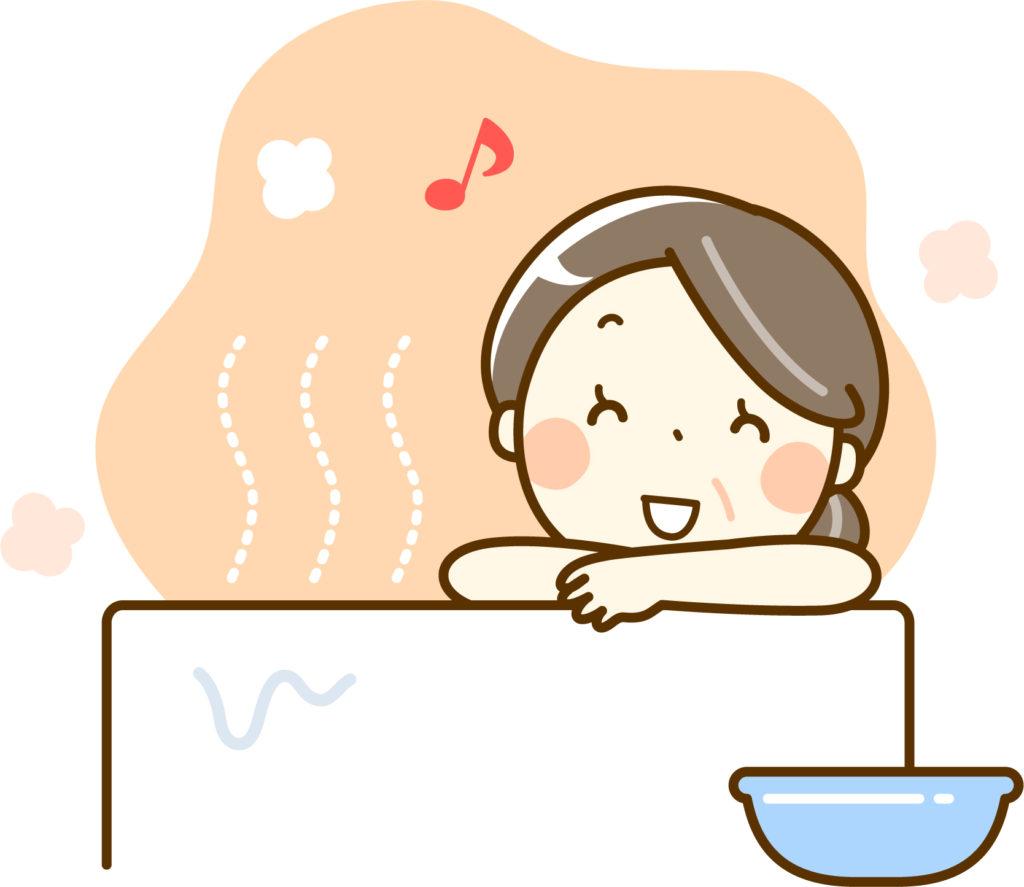 ゆっくりお風呂に入るママ