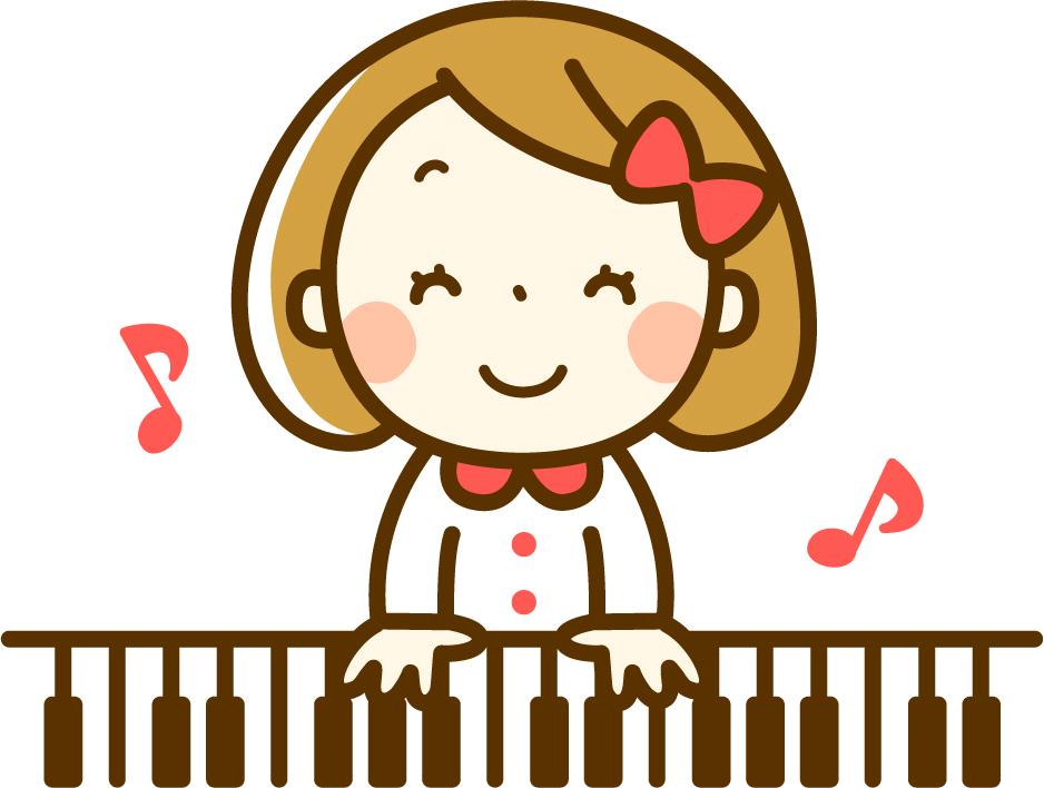 ピアノ弾くを女の子